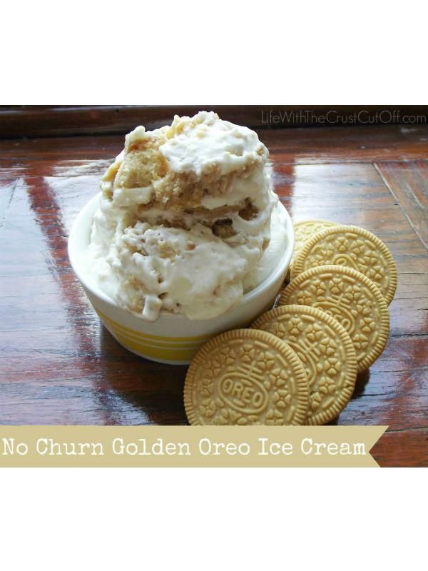 No-Churn Golden Oreo Ice Cream