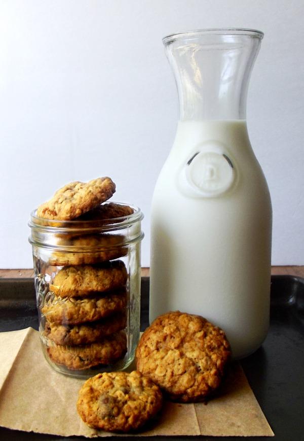 Oatmeal Raisinette Cookies