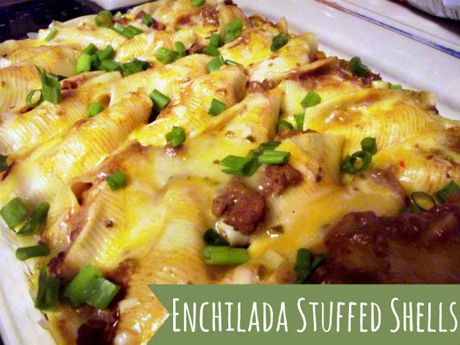 Enchilada Stuffed Shells2