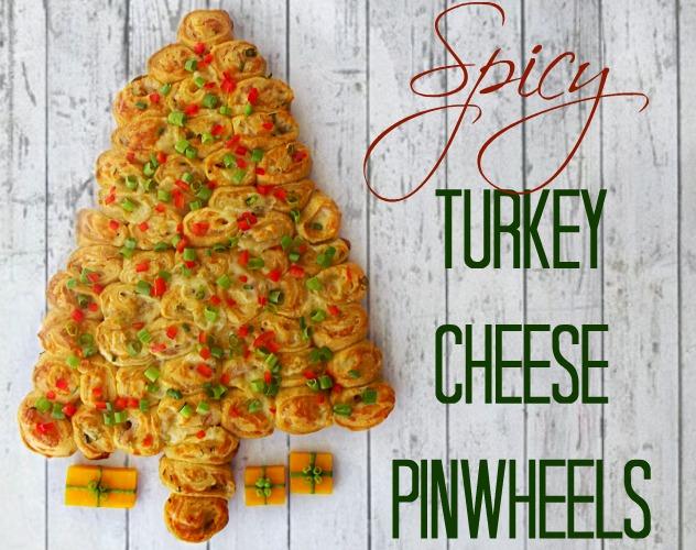 Spicy Turkey Cheese Pinwheels