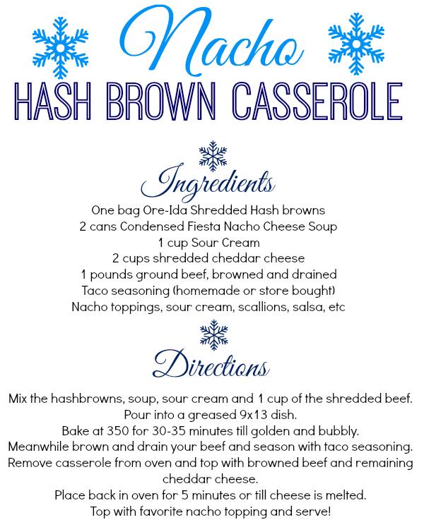 Nacho Hash Brown Casserole Recipe #shop #cbias #OreIdaHashbrn