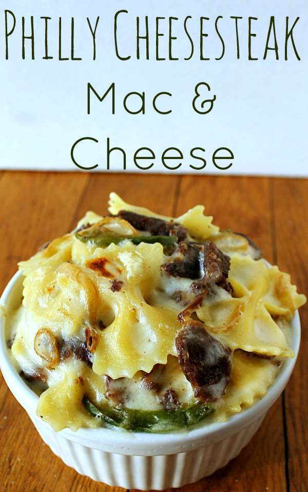 Philly Cheese-steak Mac & Cheese