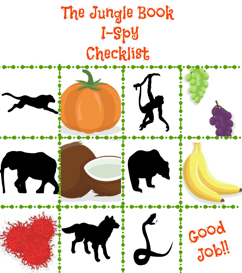 Jungle Book I Spy Checklist #JungleFresh #CollectiveBias #shop