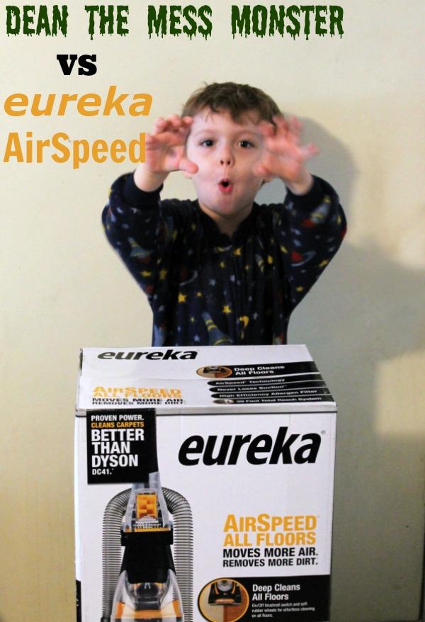 Dean the Mess Monster VS Eureka AirSpeed #EurekaPower #CollectiveBias #cbias