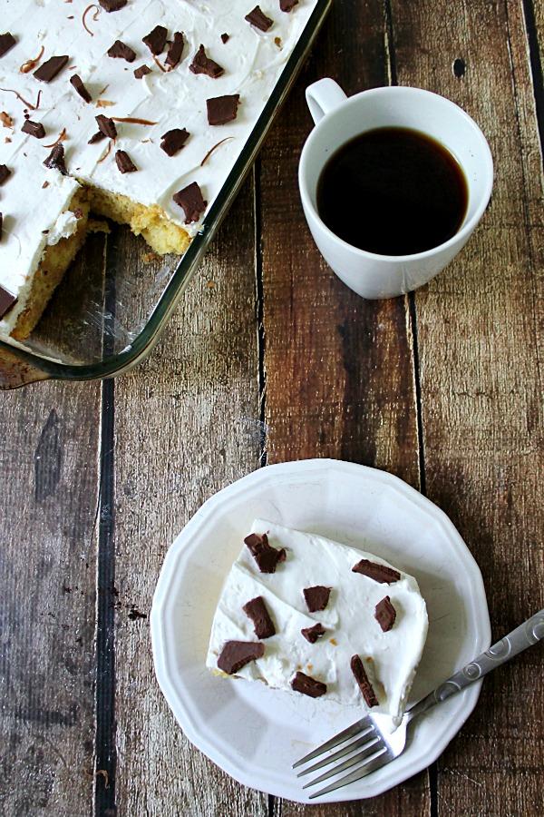 Tiramisu Poke Cake
