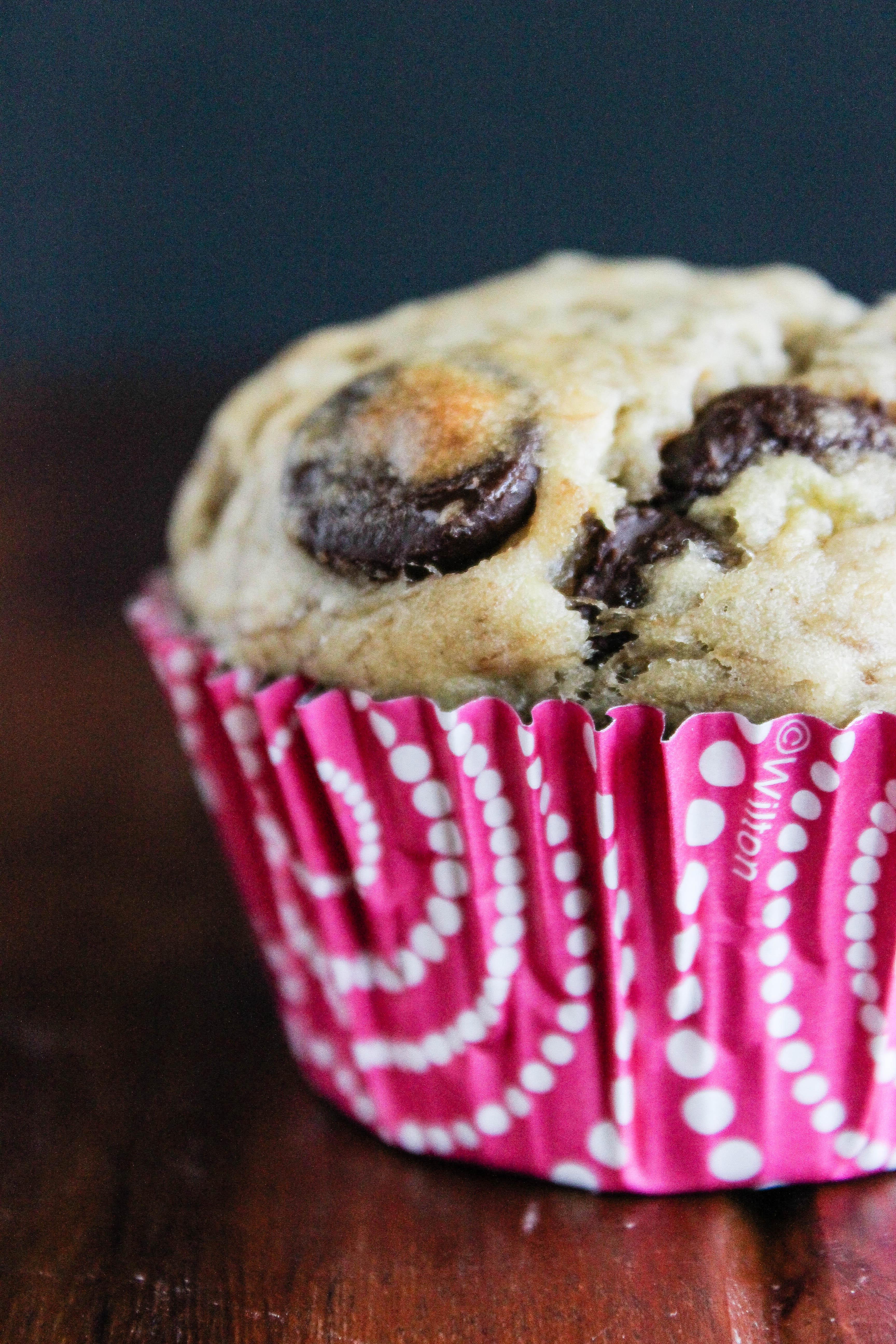 choc chip banana muffin