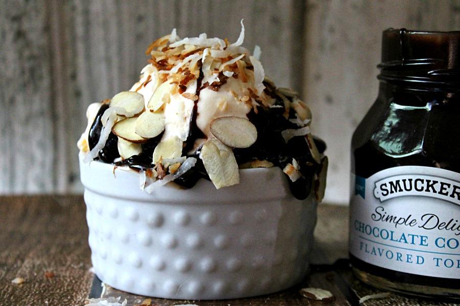 Chocolate Coconut Toasted Almond Sundae