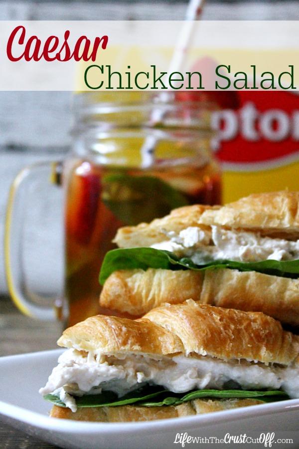 Caesar Chicken Salad #TEArifficPairs #CollectiveBias