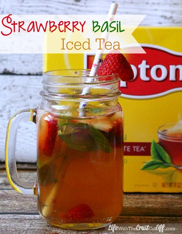 Strawberry Basil Iced Tea #TEArifficPairs #CollectiveBias