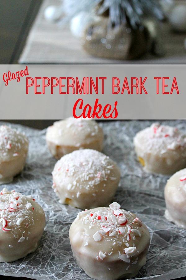 Glazed Peppermint Bark Tea Cakes #BigelowVIP #AmericasTea #CollectiveBias
