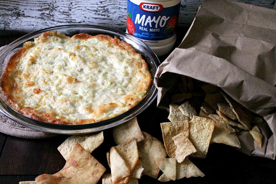 Hot Artichoke Dip with Kraft Mayo #MustHaveMayo #CollectiveBias