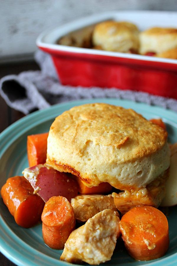 Comforting Chicken & Biscuit Stew
