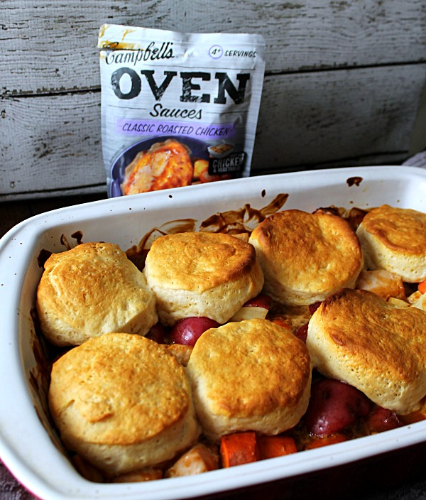 One Pan Chicken and Biscuits Stew