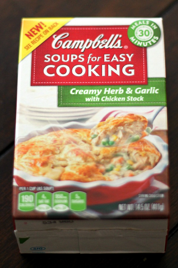 Campbell's Soups For Easy Cooking Creamy Herb & Garlic with Chicken Stock #CollectiveBias #WeekNightHero