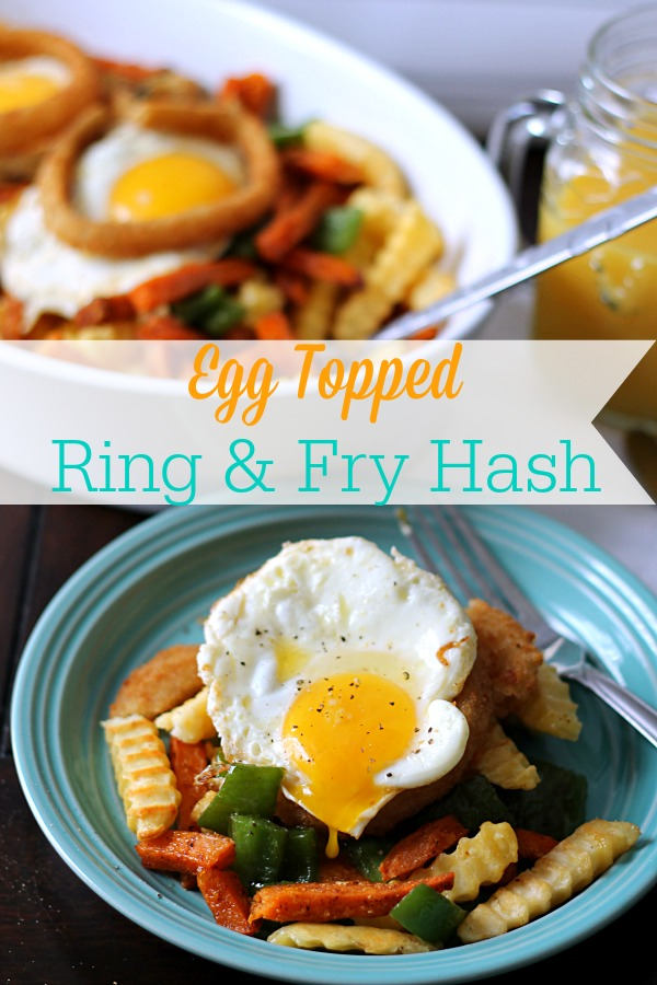 Egg Topped Ring & Fry Hash #SpringIntoFlavor #CollectiveBias