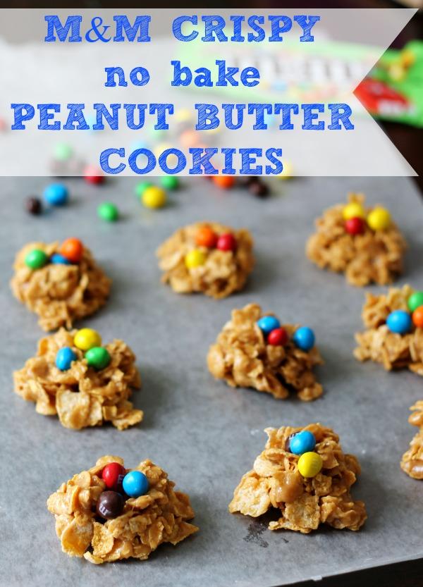 M&M Crispy No Bake Peanut Butter Cookies #CrispyIsBack #CollectiveBias