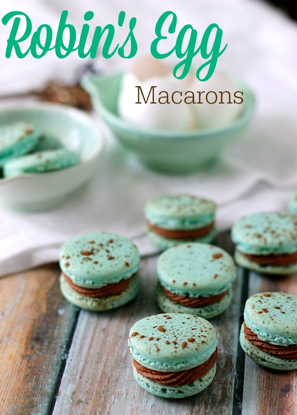 Robin's Egg Macarons.  Easy to make and perfect for Spring!