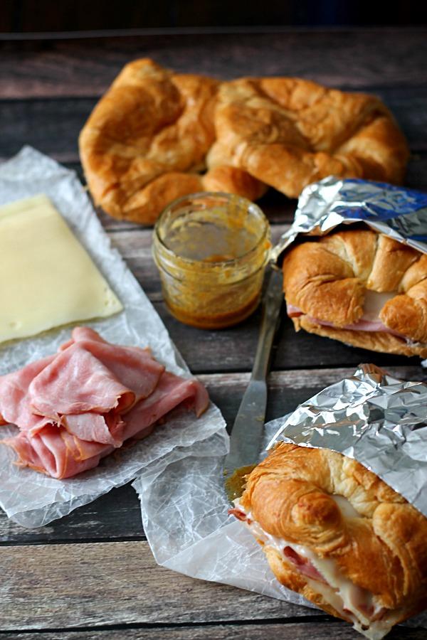 Hot Ham and Swiss Croissants, yum!