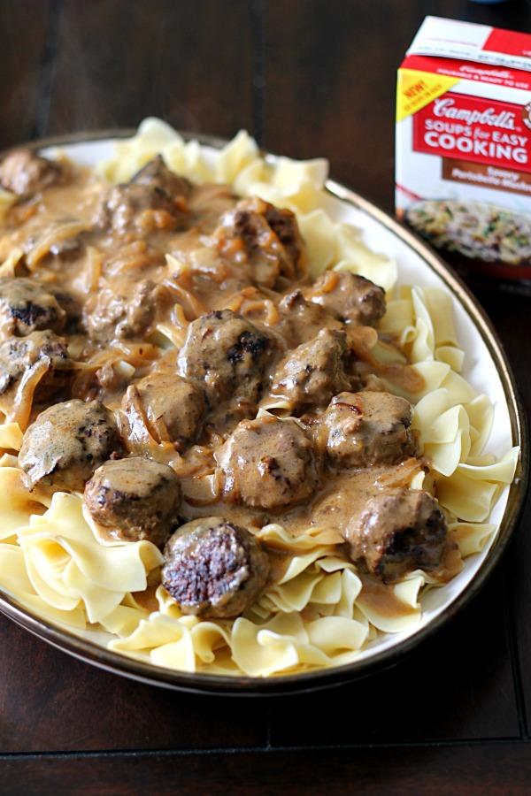 Yummy Salisbury Steak Meatballs #WeekNightHero #CollectiveBias