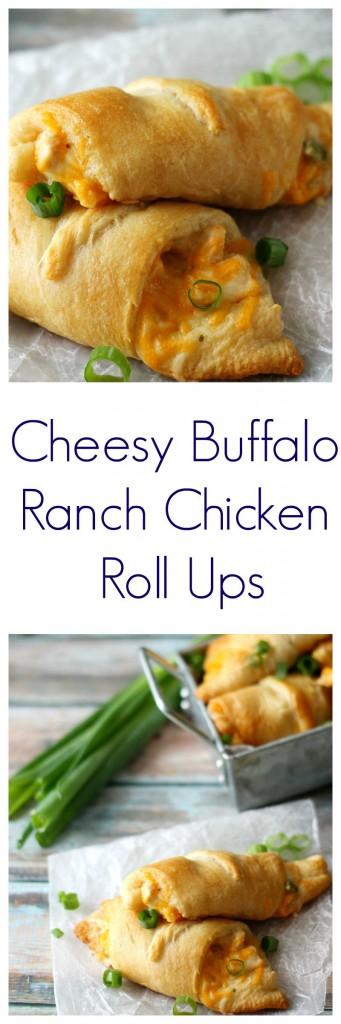 Delicious Cheesy Buffalo Ranch Chicken Roll Ups