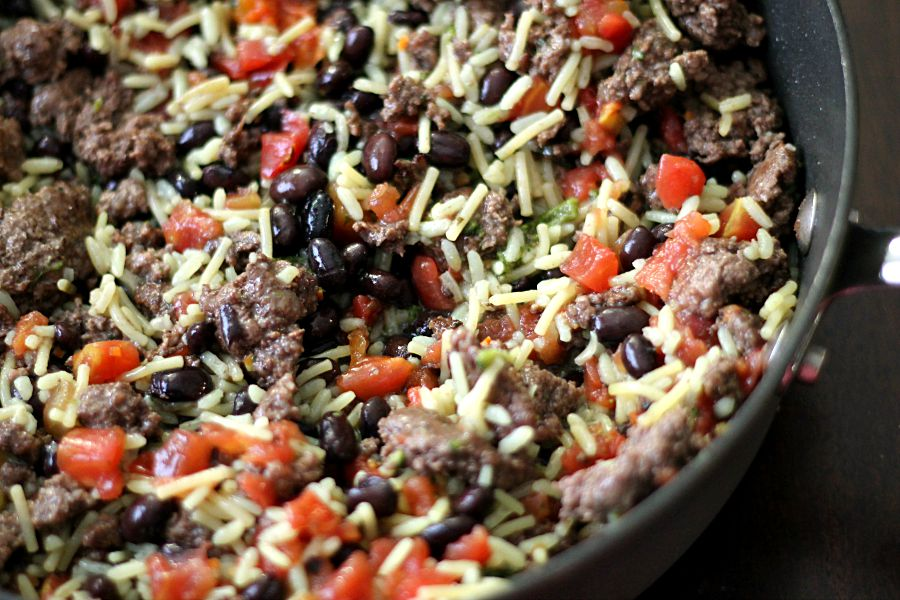 One Pot Black Beans and rice