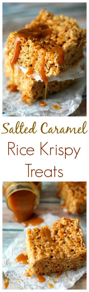 Salted Caramel Rice Krispy Treats