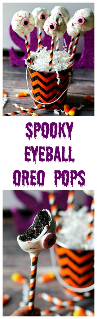 Spooky Eyeball Oreo Pops