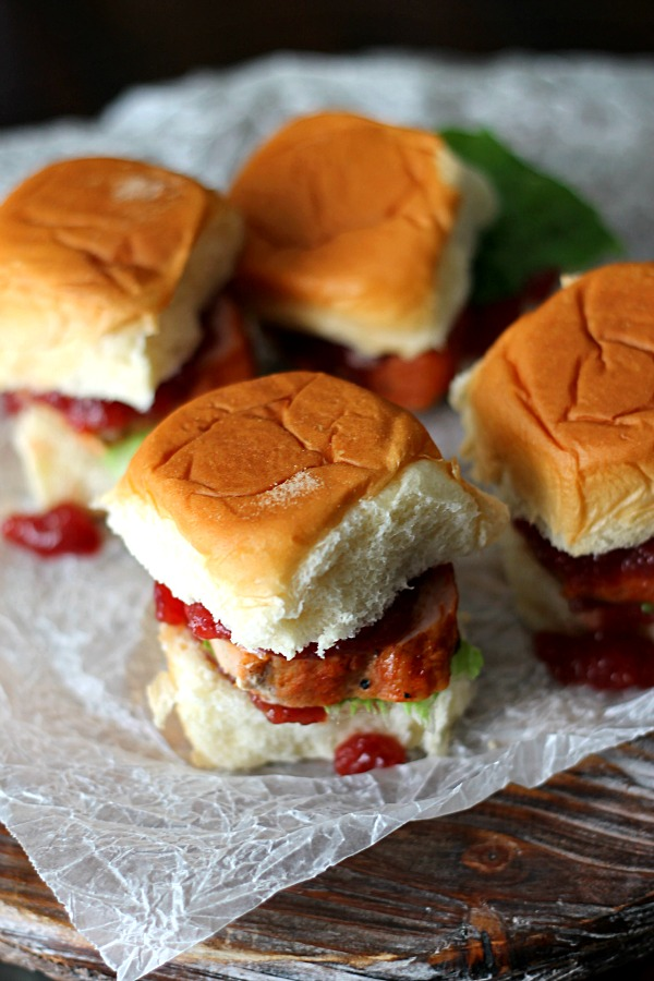 Cranberry Pork Sliders