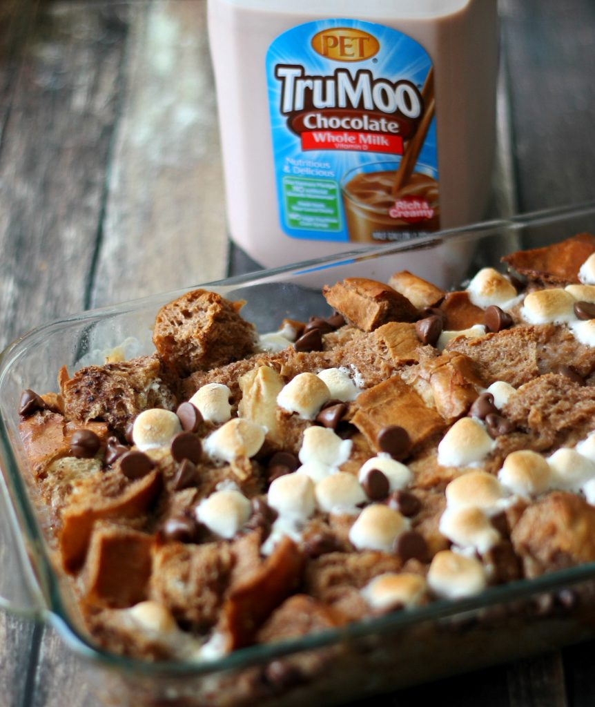 Baked Hot Chocolate Bread Pudding