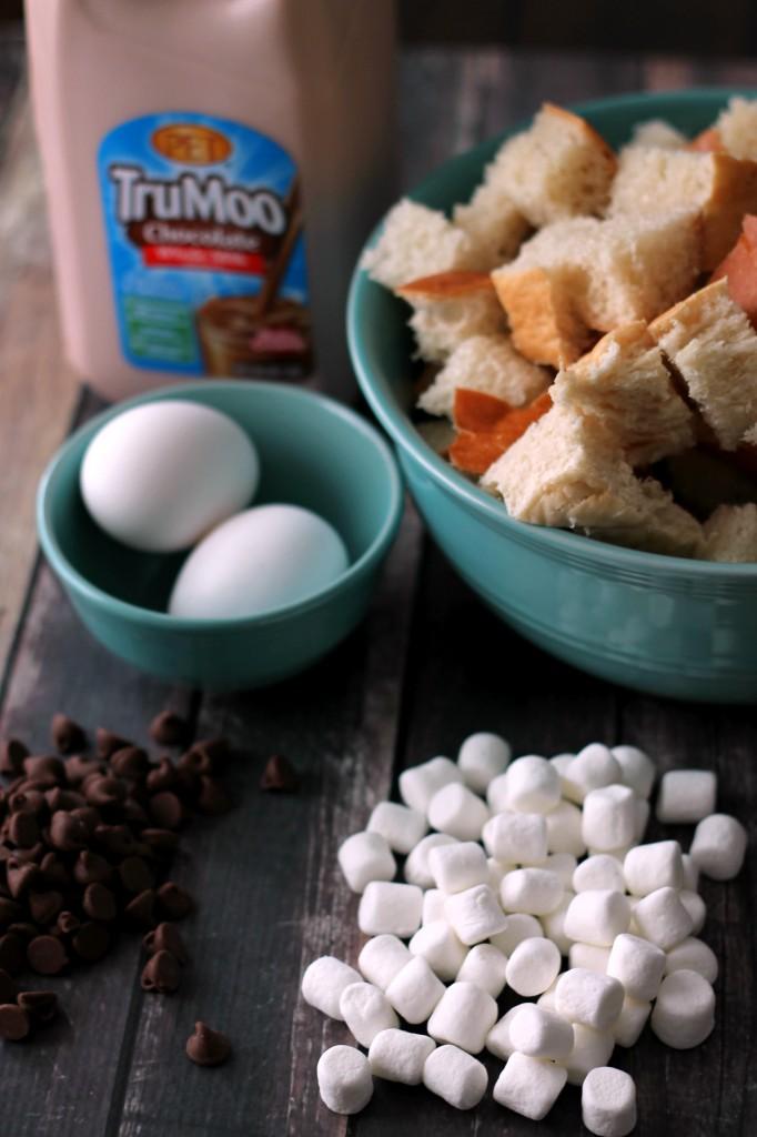 TruMoo Bread Pudding Ingredients