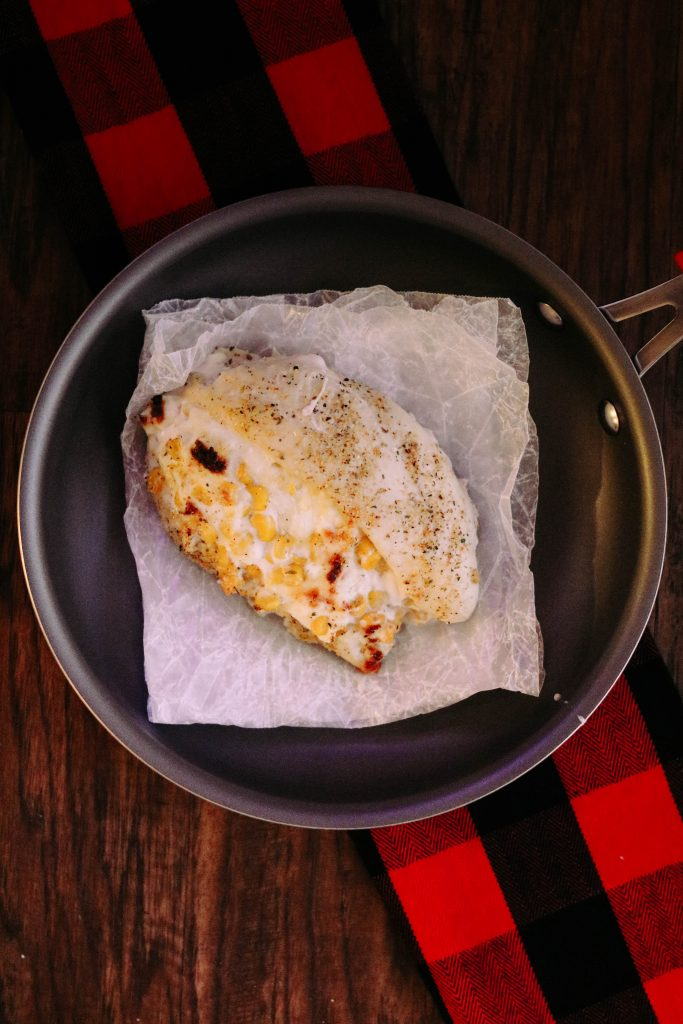 Cheesy Spicy Corn Stuffed Chicken