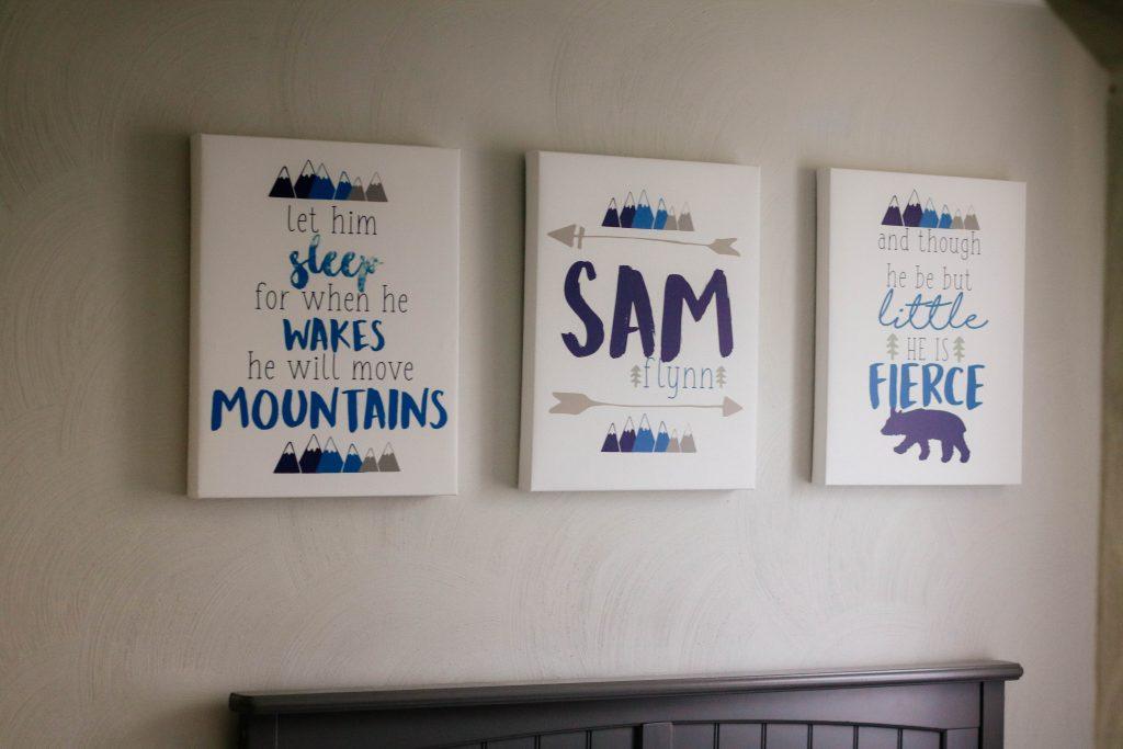 Mountain Nursery Canvas