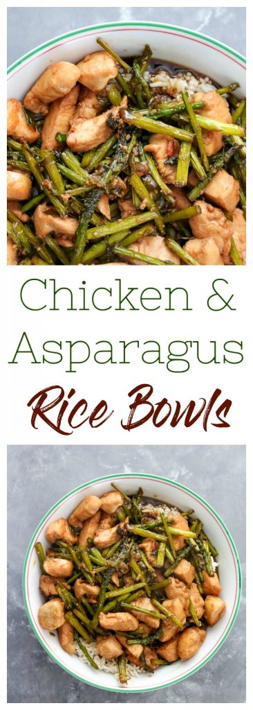 Chicken & Asparagus Rice Bowls