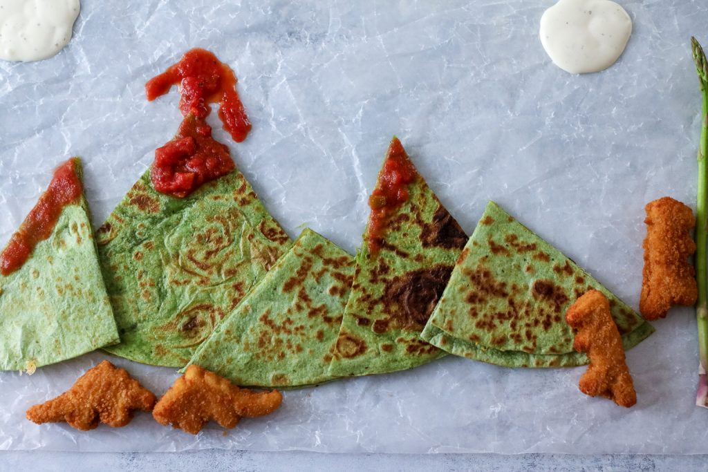 Volcano Quesadillas with Salsa Lava and dinos! (1 of 1)