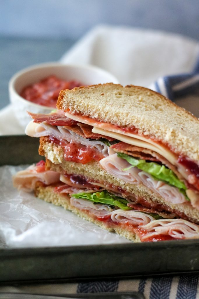 Cranberry Pepper Jelly Turkey Club (1 of 1)