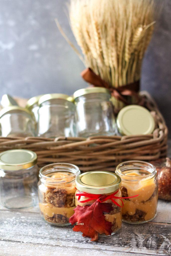 Pumpkin Gingerbread Trifle In Jars (1 of 1)