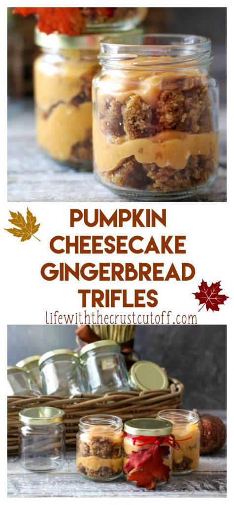 The BEST Pumpkin Cheesecake Gingerbread Trifles